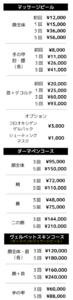 マッサージピール料金表